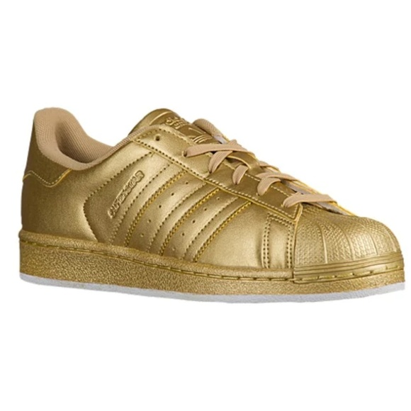 gold metallic superstar adidas